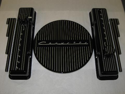 Large Black Corvette Full Set
